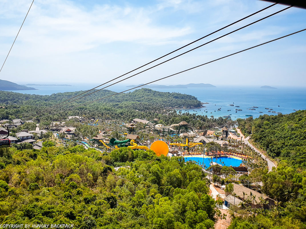 Phu Quoc Cable Car_view of Aquatopia water park from cabin